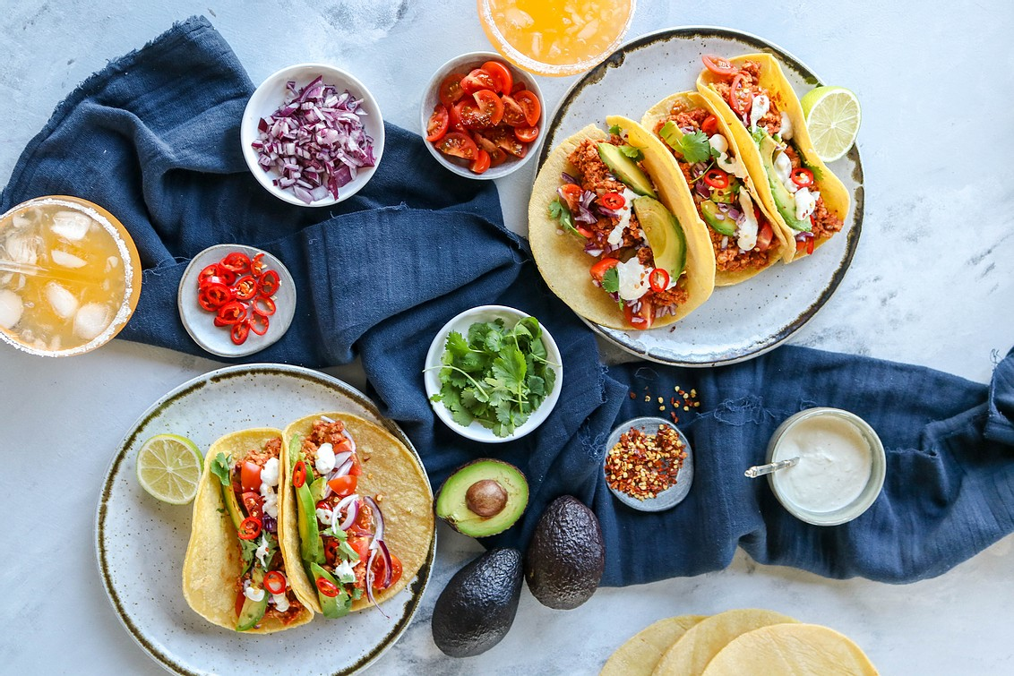 tempeh tacos with cashew lime cream